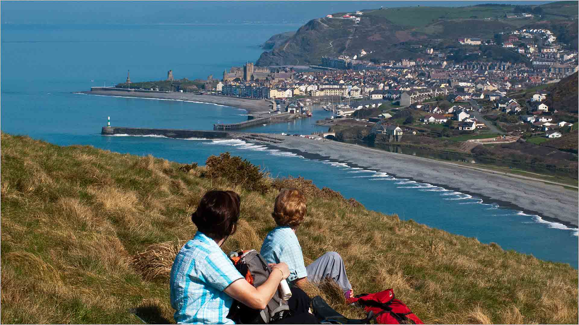 Coffee stop overlooking Aberystwyth